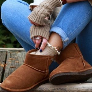 Used ankle length bear paw booties